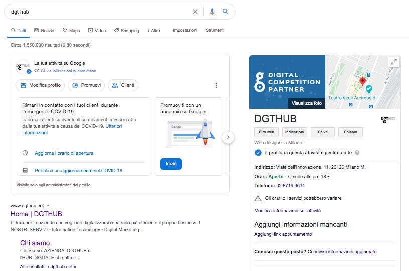 Google My Business DGT HUB